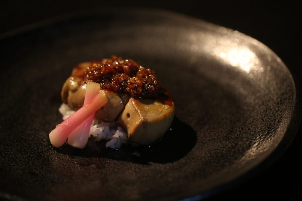 Foie Gras with Rice Teriyaki by Dharshan Munidasa