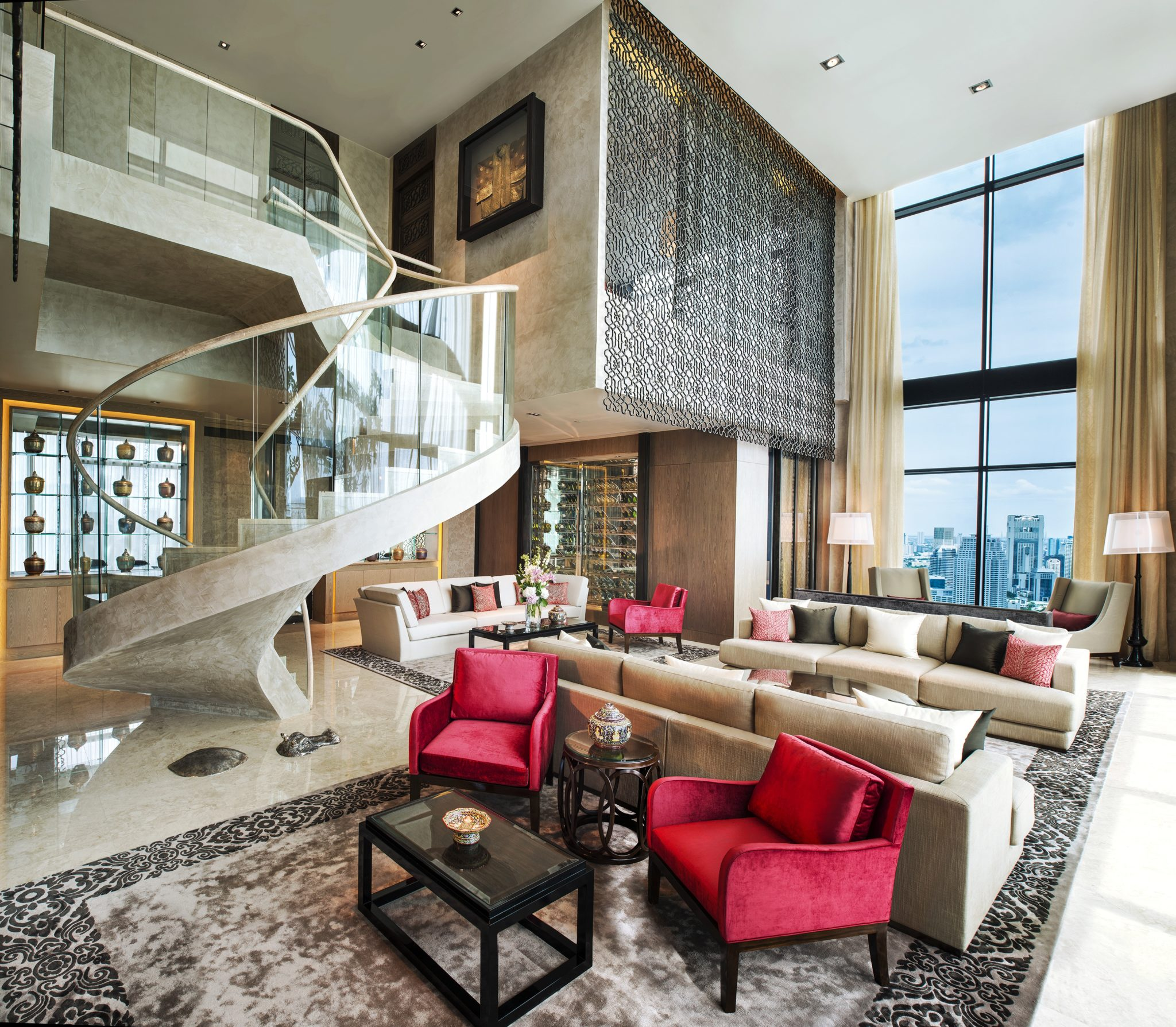 Living-Room-Penthouse-The-St. Regis-Bangkok