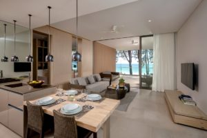 Twinpalmes Residences MontAzure – One Bedroom Show Suite – Living Room Seaview