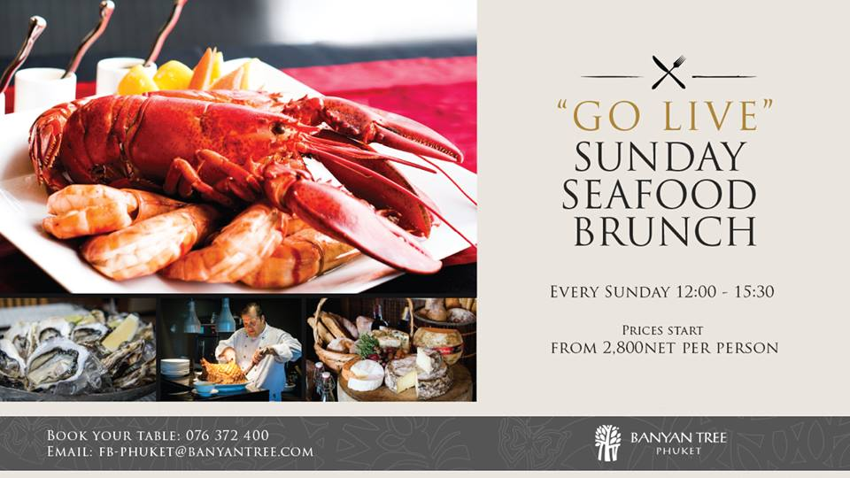 Sunday Seafood Brunch Banyan Tree event