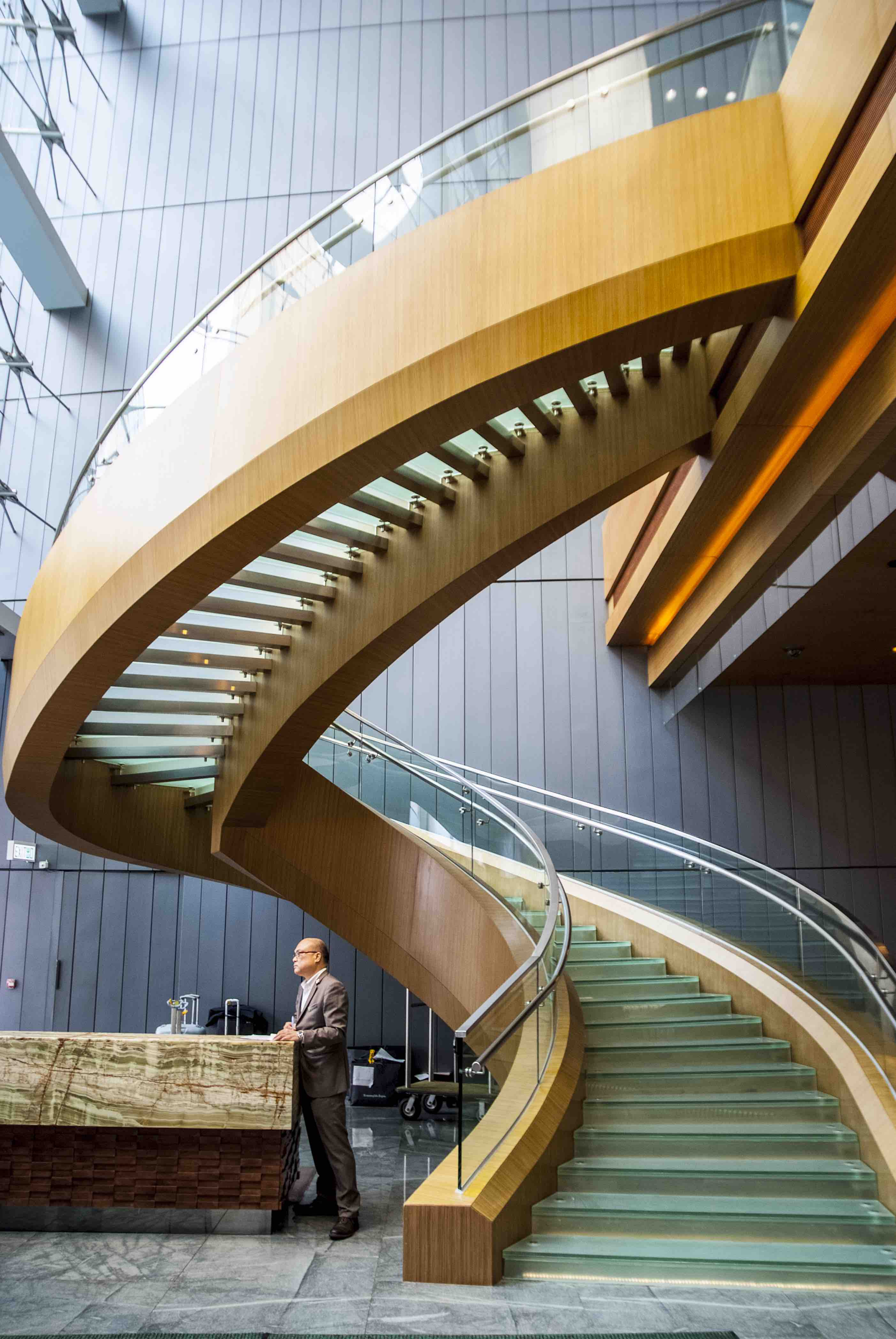 Staircase, Hong Kong, Lobby, Luxury Hotel