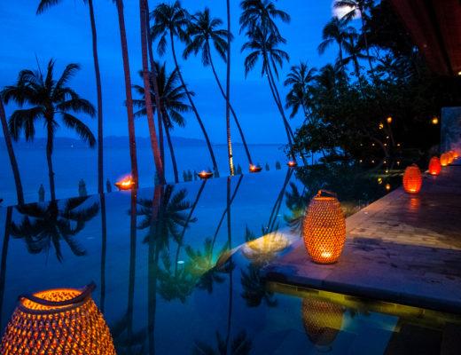 Four Seasons Resort Koh Samui, conrad koh samui, sea, seaview, inifinity pool, twilight