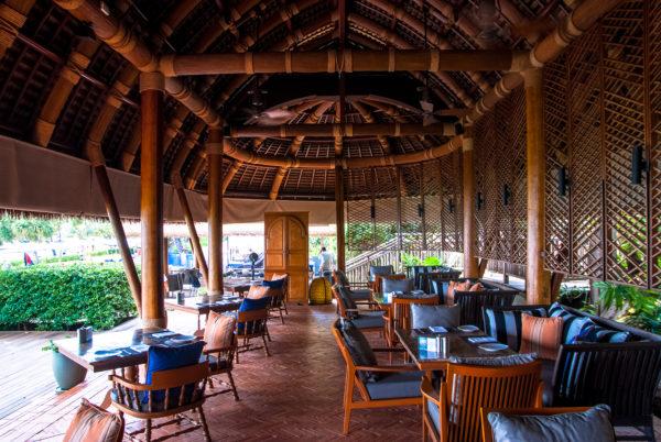 restaurant, bamboo roof
