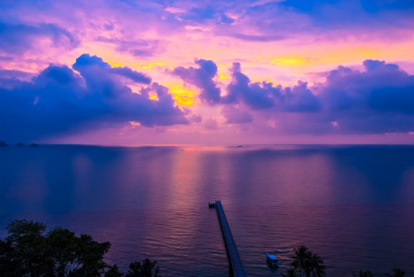 Intercontinental Samui pier, seaview, twilight, sunset