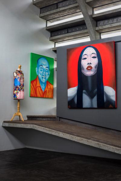 Studio WARP, Gallery, painting, asian faces