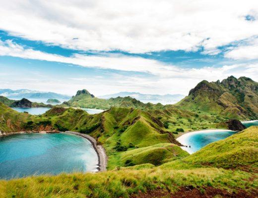 Green nature, sea
