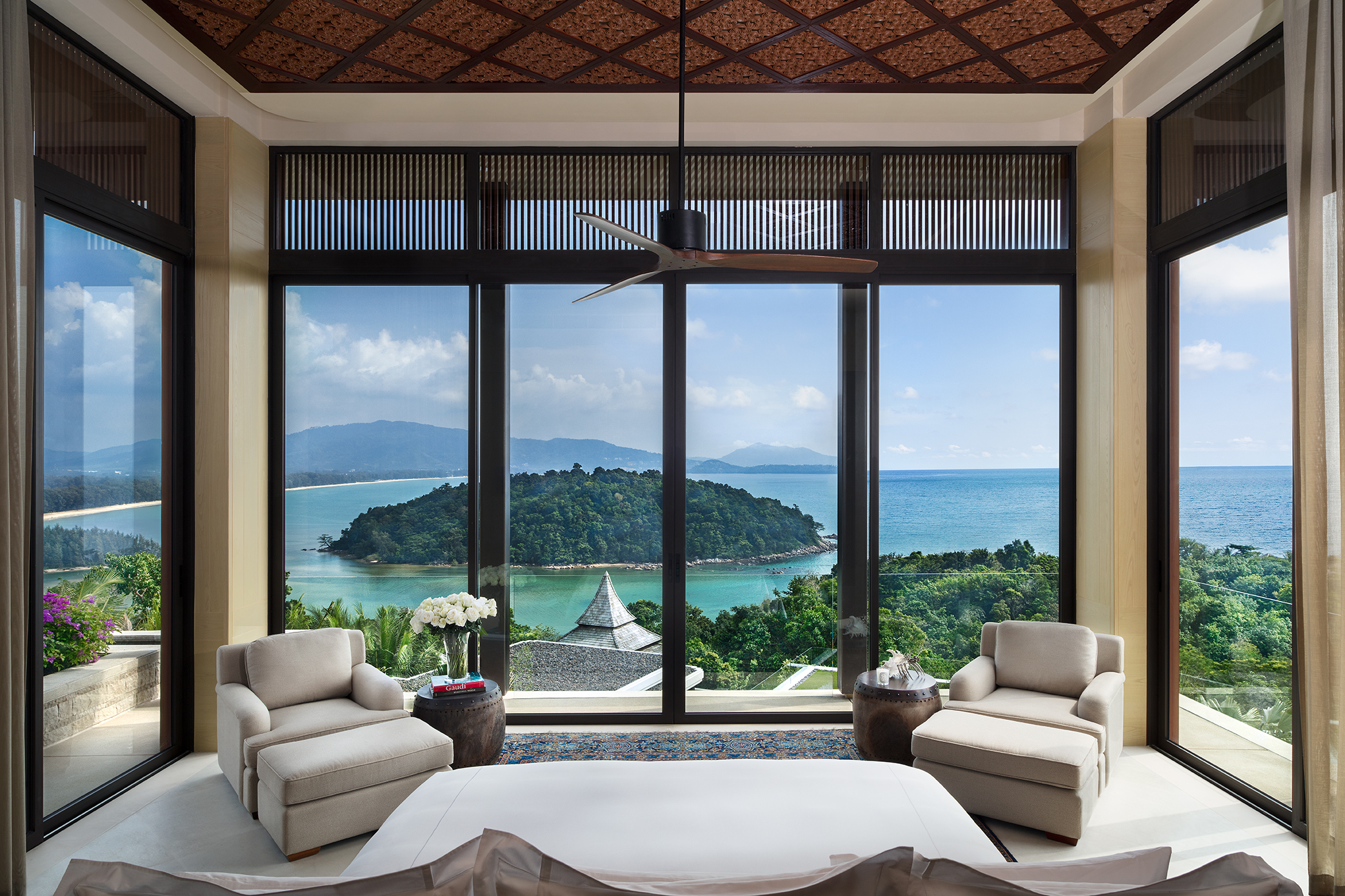 Similan villa, Anantara layan phuket, sea view, island view, bedroom