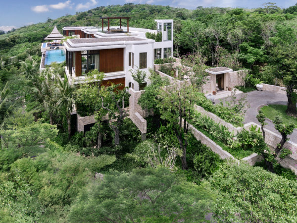 Similan villa, Anantara layan phuket, sea view, infinity pool, jungle, drone view