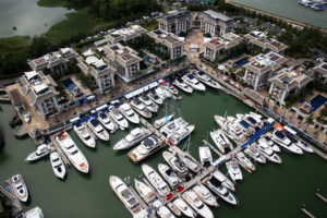 Royal Phuket Marina, boats, catamaran, yachts, superyachts, marina view
