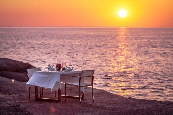 Kata rocks, Dining on the rocks, Phuket, Thailand, romantic, sunset, resort