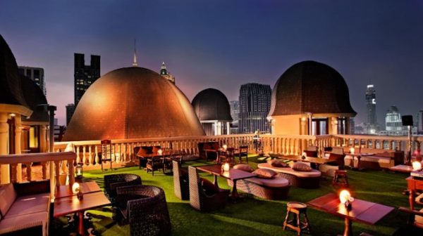 Speakeasy, Muse hotel, rooftop, bangkok, cocktails, evening, view, city view